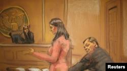 Зарисовка сделана в зале суда во время выступления адвоката Евгения Бурякова.