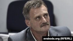 Belarus – RFE/RL journalist Aleh Hruzdzilovich. Minsk, June 3, 2013.