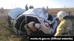 """Авария на автотрассе """"Таврида"""" рядом с Феодосией"""