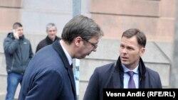 Aleksandar Vučić (L) i Siniša Mali