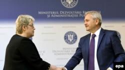 Sevil Şaideh ve Romaniya sotsial-demokratik fırqasınıñ lideri Liviu Dragnea