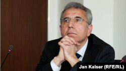 Jailed Azerbaijani lawyer Intigam Aliyev (file photo)