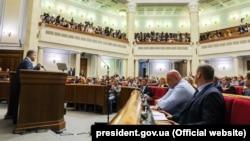 Украина парламентінің сессиясы (Көрнекі сурет).