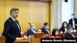 Andrej Plenković u Hrvatskom saboru, Zagreb, 23. svibnja