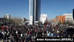 Архивска фотографија, протести за ослободување на Рамуш Харадинај, 4 март 2017