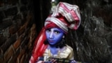 A child dressed as the Hindu Lord Krishna poses during the festival of Janmashtami in Dhaka, Bangladesh. (Reuters/Mohamma Ponir Hossain)
