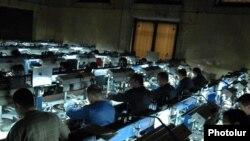 Armenia -- Workers at the Lori diamond-processing company, December 1, 2009.