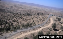 A newly border fence along with Afghanistan's Paktika province border and Angoor Adda in Pakistan's South Waziristan tribal district.