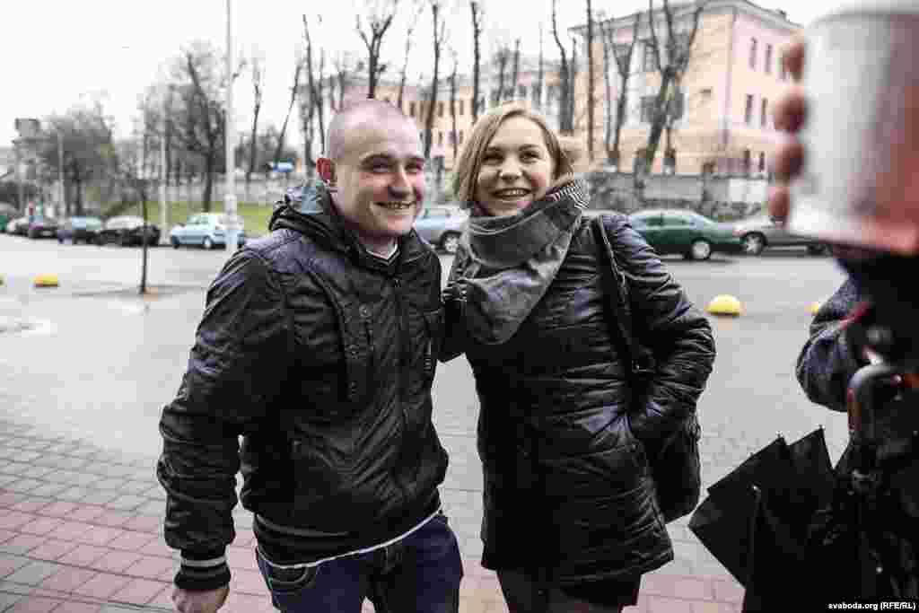 Арцём Яроменак з жонкай Валянцінай