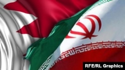 Флаги Ирана и Бахрейна.