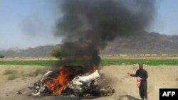 На кадре из видео — район авиаудара на юго-востоке Пакистана, в результате которого, предположительно, погиб лидер «Талибана» Ахтар Мансур. 21 мая 2016 года.