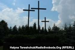 Хрести на місці вбивства поляків Павлівці
