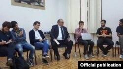 ალექსანდრე ჯეჯელავას შეხვედრა სტუდენტებთან