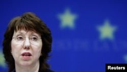 EU High Representative for Foreign Affairs and Security Catherine Ashton took the opportunity to condemn the recent violence in the Middle East.