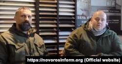 Pavel Botka (left) and Jiri Urbanek, Czech mercenaries in Donbas