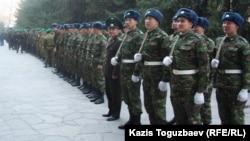 Казахстанские солдаты. Иллюстративное фото.