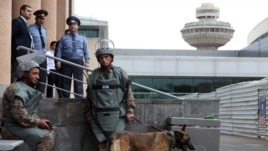 Armenian security forces during an operation at a Yerevan airport (archive photo)