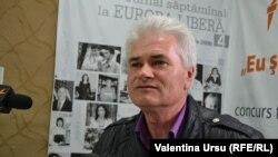Alexandru Leşco, în studioul Europei Libere la Chişinău