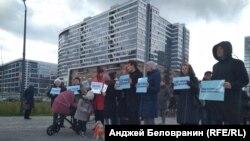 Митинг на Васильевском острове