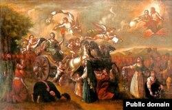 Путешествие императрицы Екатерины II в Крым. Аллегорическая картина конца XVIII века