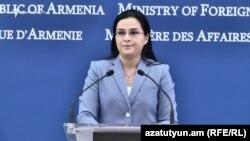 Пресс-секретарь МИД Армении Анна Нагдалян (архив)