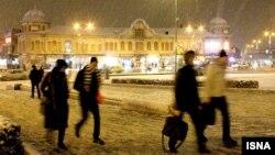 بارش برف در همدان- ۱۳ بهمن ۱۳۹۲