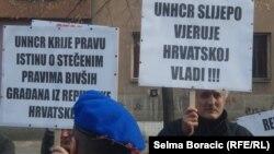Protest radnika protjeranih iz Hrvatske 1991., Sarajevo, 15. novembar 2012.