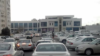 """Turkmenistan. Full parking at the wholesale center. Inside, as eyewitnesses said, """"the apple has nowhere to fall"""", the whole city is here. March 2021"""
