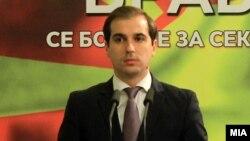 Заменик министерот за труд и социјална политика Диме Спасов.