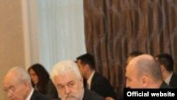 Premijeri Srbije Mirko Cvetković i RS Aleksandar Džombić na sednici Vlade u Banjaluci, 18. mart 2011