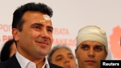 Zoran Zaev na konferenciji za medije SDSM-a, nakon nasilja u Sobranju