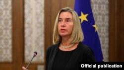 Шефицата на европската дипломатија во заминување, Федерика Могерини