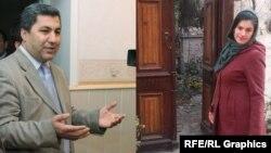 Tacikistan İslami İntibah Partiyasının lideri Muhiddin Kabiri və jurnalist Haramgul Qodir