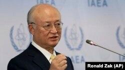 Shefi i IAEA, Yukiya Amano.