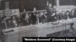 """Adunare împotriva referendumului unional. """"Moldova Suverana"""", 16.03.1991."""