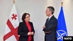 Генеральний секретар НАТО Єнс Столтенберґ і міністр оборони Грузії Тінатін Хідашелі