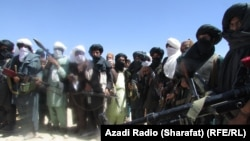 Taliban militants in Uruzgan on February 15.