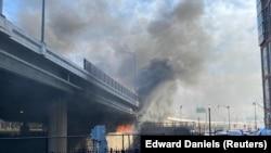 Пожар во камп за бездомници во Вашингтон
