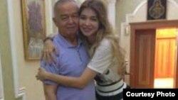Mərhum prezident Islam Karimov və böyük qızı Gulnara Karimova