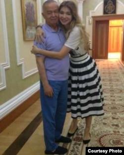 Гульнара Каримова с отцом. Дата фото неизвестна