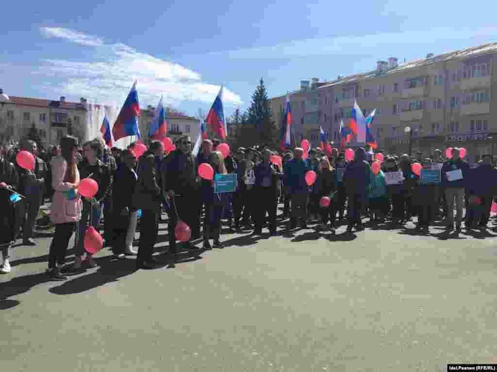 Татарстан башкаласында Владимир Путинга каршы чарага 200ләп кеше чыкты