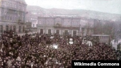 Həsən bəy Zərdabinin dəfni, Bakı, 1907