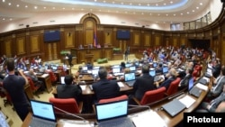 Armenia - A session of the National Assembly in Yerevan.