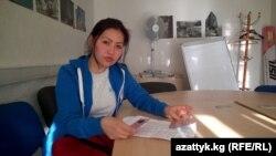 Айбарчын Шамшиева, трудовая мигрантка из Кыргызстана.