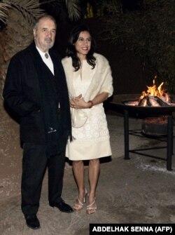 کریر در کنار همسرش نهال تجدد، مراکش، ۲۰۰۷