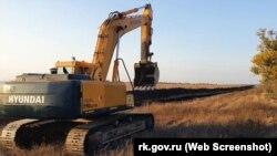 Работы у Бештерек-Зуйского водозабора, октябрь 2020