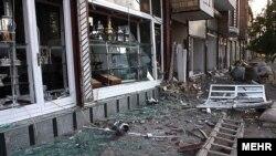 Последствия вчерашних землетрясений