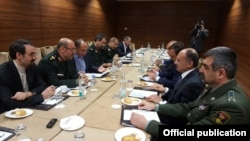 Russia - Defense Minister Seyran Ohanian meets Iranian Defense Minister Hossein Dehqan in Moscow, 27 April, 2016