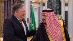 Mike Pompeo i saudijski kralj Salman, Rijad