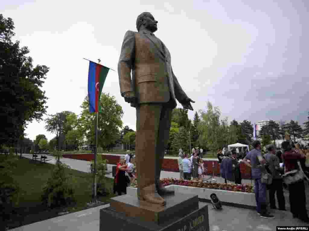Spomenik nekadašnjem predsedniku Azerbejdžana i diktatoru Hajdaru Alijevu u Beogradu